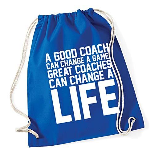 x change Gym 12 Bag Blue good a coaches Royal can A 37cm School life Great Cotton coach game change litres Drawstring can a Hippowarehouse 46cm aH1vqwxp