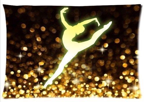 D.Parker. Gymnastic Dancing Star Pillowcase Zip 16x24 (Twin Sides) Custom Zippered Pillow Cover Cases ()