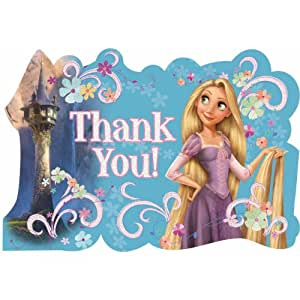 Amazon.com: Tangled Rapunzel Thank You Tarjetas Postales ...