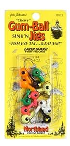 Northland Tackle RH4-12-99 1/4 Oz. Gum-Ball Jig, Assorted