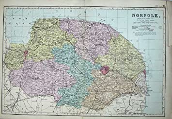 Carte Norfolk Angleterre.Lynn Plan Wash Des 1881 De Carte De La Norfolk Angleterre