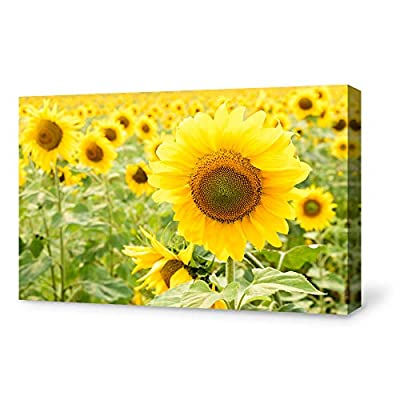 Canvas Wall Art for Living Room,Bedroom Home Artwork Paintings Sunflower Ready to Hang - 32x48 inches
