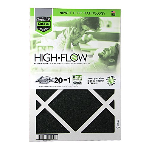 - No Toil Castle, One-Year HVAC Furnace Filter, 14