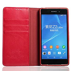 Kalaideng KLD Royale Series Genuine Leather Case with TPU Back Cover for Sony Xperia Z2 - Retail Packaging - Dark Red