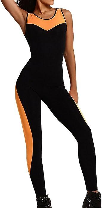 Femme Jumpsuit Legging De Sport Combinaison Pour Fitness Course Gym Jogging Yoga Amazon Fr Vêtements Et Accessoires
