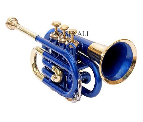 Nasir Ali Ptr-10 Pocket Trumpet B-Flat Blue by NASIR ALI