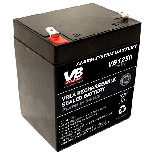 Vici Vb1250 12V 5Ah Home Alarm Battery With F1 Terminals