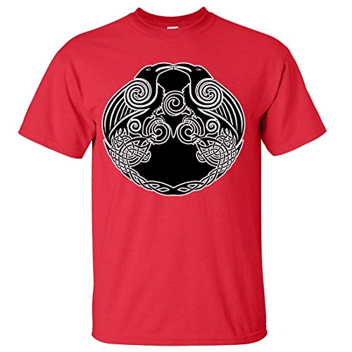 Dual Raven Two Tone T-shirt/tee - Red Medium (What Does Red Roses Represent)