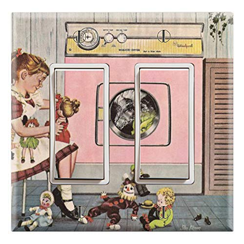 Graphics Wallplates - American Doll Laundry Room- Double Rocker/GFCI Wall Plate Cover