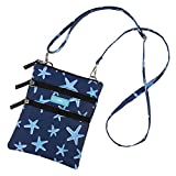 SCOUT Sally Go Lightly Multi-Pocket Lightweight Crossbody Bag, Adjustable Strap, Water Resistant, Zips Closed, Fish Upon a Star