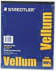 Staedtler Mars Vellum Paper, 16#, Rag, 8.5 x 11 Inches, Plain, 50 Sheets per Pad (946811P)