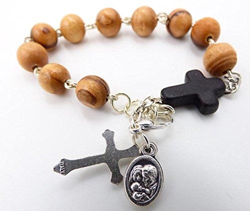 Olive Chaplet Wood (Rosary Bracelet - Olive Wood Catholic Rosary Bracelet)