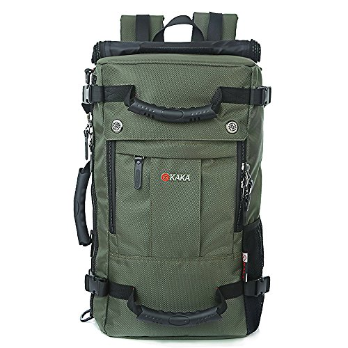 Unisexs Travel Hiking Backpack Waterproof Material (Army green) - 7