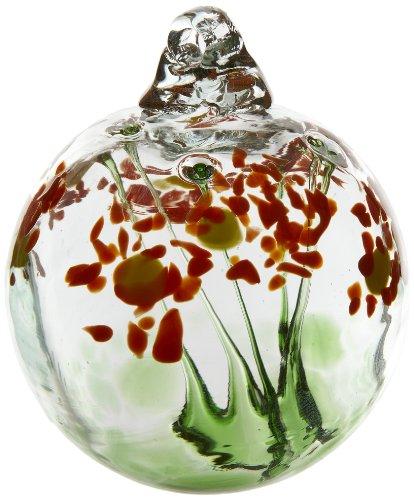 - Kitras 2-Inch Blossom Ball Glass Ornament, Happy Birthday