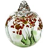 Kitras 2-Inch Blossom Ball Glass Ornament, Happy Birthday