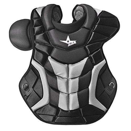 All Star System 7 Chest Protectors Black/Grey 16.5