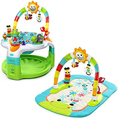 f8e60dcbd Bright Starts 2 in 1 Laugh   Lights Activity Gym and Saucer  Amazon ...