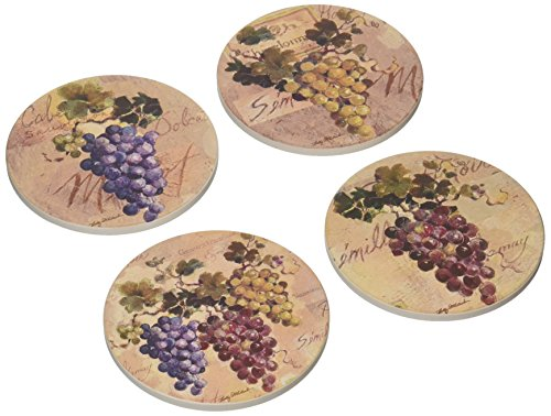 CoasterStone AS8425 Absorbent Coasters, 4-1/4-Inch,