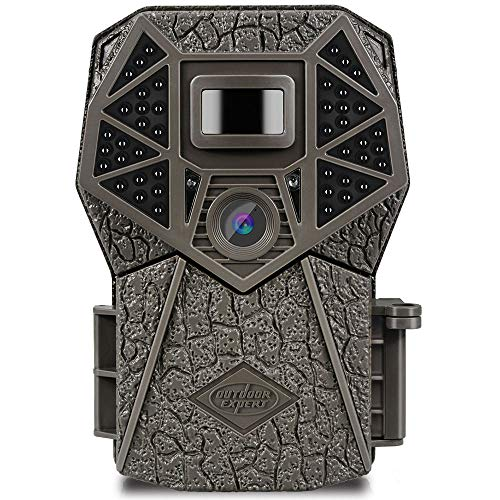 Trail Camera 20MP 1080P Hunting Camera with 44 pcs 940nm IR LEDs, Activated Night Vision 70ft PIR Distance Digital Game Cam with LCD Display for Wildlife Scouting and Home Security