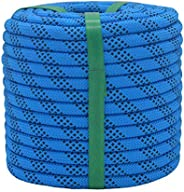 YUZENET Braided Polyester Arborist Rigging Rope Strong Pulling Rope for Climbing Sailing Gardening Swings,Blue