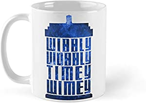 Mug Wibbly Wobbly Timey Wimey Mug - 11oz Mug - Features Wraparound Prints - Made From Ceramic - Best Present For Family Friends