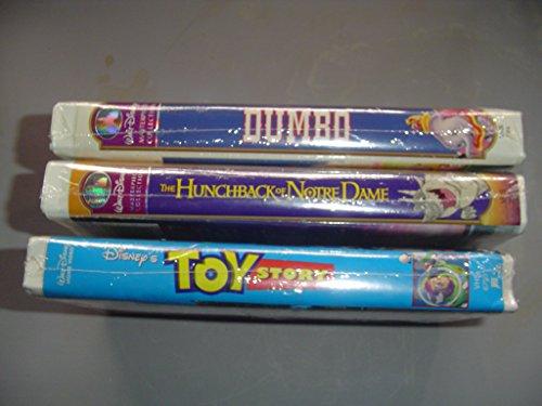 Walt Disney VHS Tapes Toy Story - Dumbo - Hunchback of Notre Dame