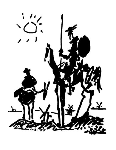 HUNTINGTON GRAPHICS Don Quixote by Pablo Picasso - Art Print/Poster 11x14 inches