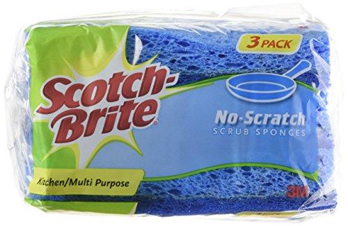 3M Scotch-Brite No-Scratch Multi-Purpose Scrub Sponge, 3 (3pk Scotch Brite Scrub)