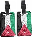 Rikki Knight Jordan Flag Design Luggage Identifiers - with Strap (x 4)