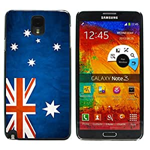 Graphic4You Vintage Australian Flag of Australia Design Hard Case Cover for Samsung Galaxy Note 3