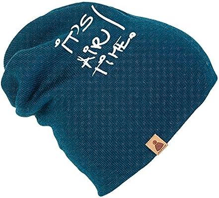 It's Air Time 2 in1 Longbeanie veya katlanabilir taşınabilir petrol bere  Sionyx Beresi Örgü spor ve boş zaman için Kadın Erkek Unisex One Size Mavi:  Amazon.com.tr