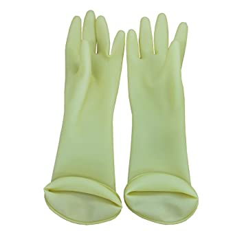 Kids Latex Household Natural Rubber Waterproof Work Playing Hand Protection Washing Cleaning Gardening Painting Gloves (