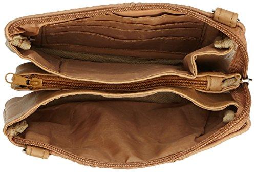 Lorenz Damen Unterarmtasche oder hellbraun Kleine Beutel Leder qSBqwgPx