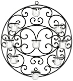 Safavieh Wall Art Collection Flourished Circle Candle Holder Wall Sconce