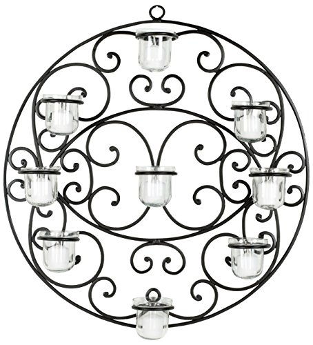 Safavieh Wall Art Collection Flourished Circle Candle Holder