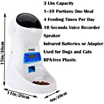 PetCul Automatic Cat Feeder 3L Pet Food Dispenser Feeder for Medium & Large Cat Dog——4 Meal, Voice Recorder & Timer Programmable, Portion Control 9