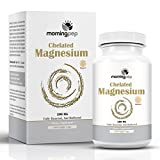 Magnesium Bisglycinate Chelate 240 Vegi Caps 200mg Elemental per Serving, Our Fully reacted (TRAACS) Albion Magnesium Has The Highest Level of Absorption, Helps Function Muscles Bones and The Heart