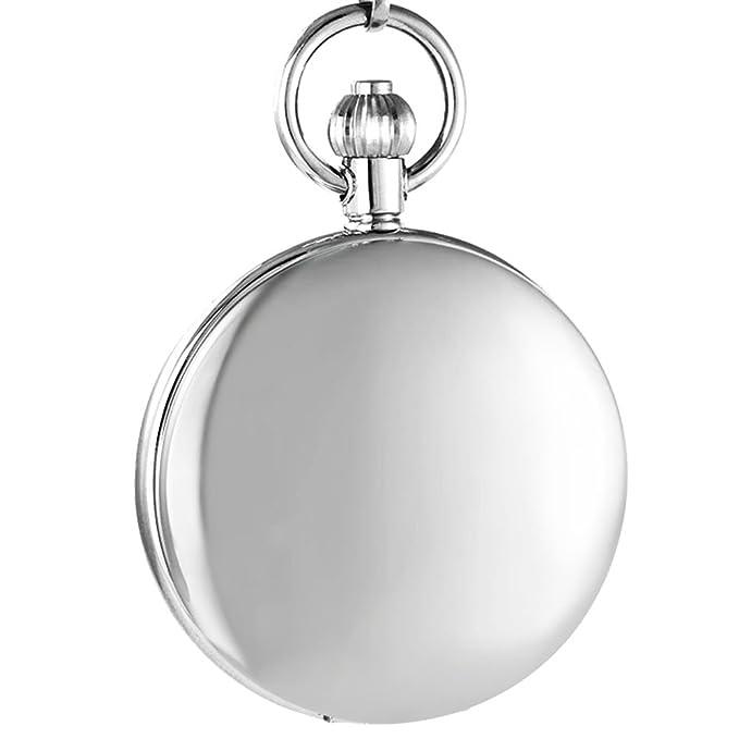 Ogle Impermeable distorsionar Espejo Negro Fases y Tourbillon Luna Cadena Llavero Esqueleto automático mecánico Reloj de Bolsillo