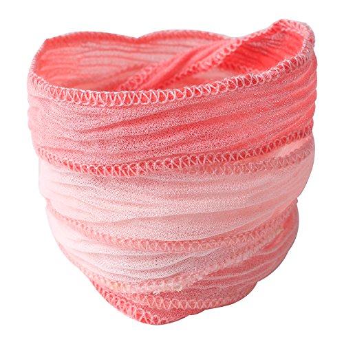 - KELITCH Silk Ribbon Wrap Wrist Band Friendship Rope Bracelet Stripe Boho Style for Sister (Pink C)