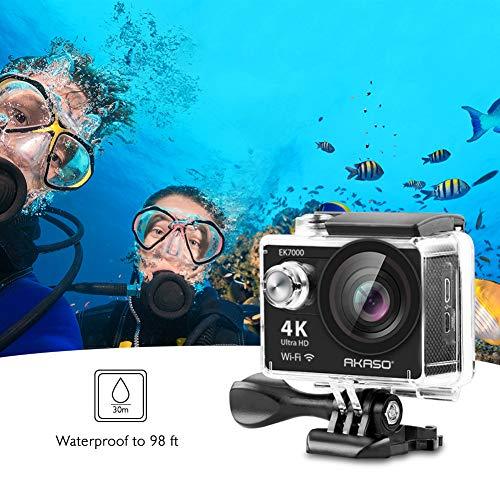 AKASO EK7000 4K WiFi Sports Action Camera Ultra HD Waterproof DV Camcorder 170 Degree Wide Angle 100FT Waterproof Camera