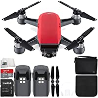 DJI Spark Portable Mini Drone Quadcopter (Lava Red) + DJI Spark Bag Essential Bundle