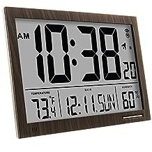 MARATHON CL030062WD Slim-Jumbo Atomic Digital Wall Clock