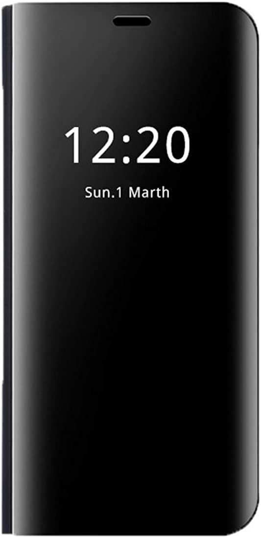 Teryei Funda Huawei Mate 9 / Mate 9 Pro, PC Hard Case [Ultra Slim] Anti-Scratch Full protección Rasguño y Resistente Anti-Estático Choque Espejo Plegable en Reflectante