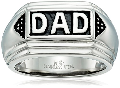 Mens Stainless Steel DAD Ring