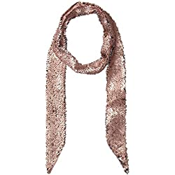 Ted Baker London Junior's Sequin Velvet Thin Skinny Scarf, Light Pink, One Size
