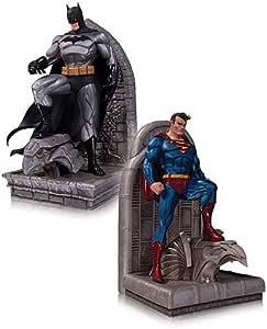 Superman y Batman sujetalibros estatuas: Amazon.es: Hogar