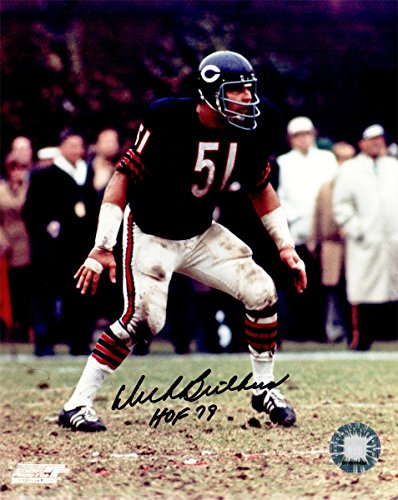 Dick Butkus Signed Bears Action 8x10 Photo (Dick Butkus Signed Photo)