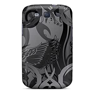 Hellocases Snap On Hard Case Cover Black Smoke Protector For Galaxy S3