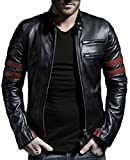 Laverapelle Men's Genuine Lambskin Leather Jacket (Black, Biker Jacket) – 1501535