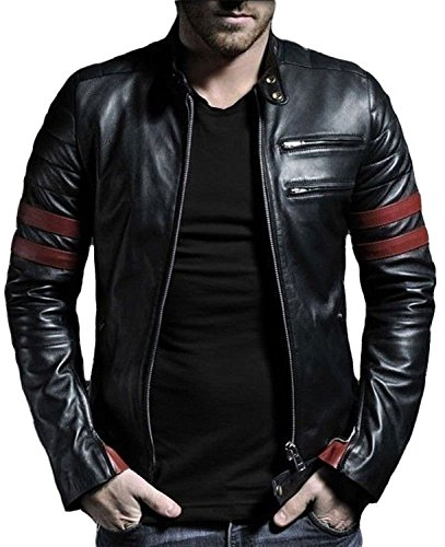 Laverapelle Men's Genuine Lambskin Leather Jacket (Black, Extra Small, Polyester Lining) - 1501535 ()